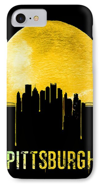Pittsburgh Skyline Yellow IPhone Case by Naxart Studio