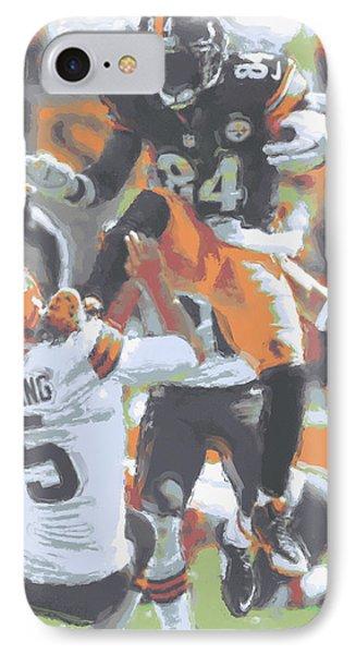 Pittsburgh Steelers Antonio Brown 4 IPhone Case by Joe Hamilton