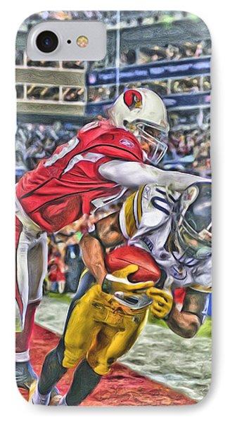 Pittsburgh Steelers Oil Art 1 IPhone Case by Joe Hamilton