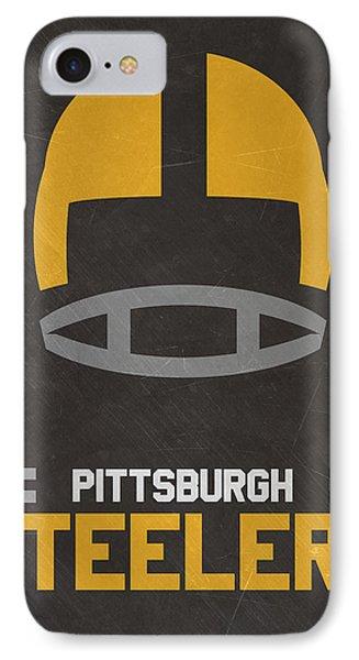 Pittsburgh Steelers Vintage Art IPhone Case by Joe Hamilton