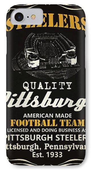 Pittsburgh Steelers Whiskey IPhone Case by Joe Hamilton