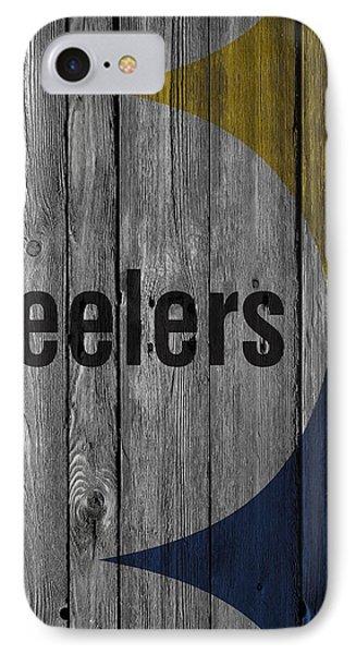 Pittsburgh Steelers Wood Fence IPhone Case by Joe Hamilton