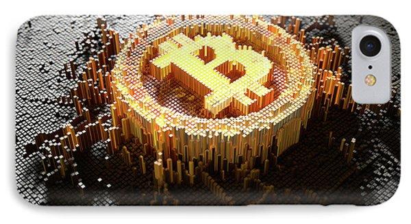 Pixel Bitcoin Concept IPhone Case