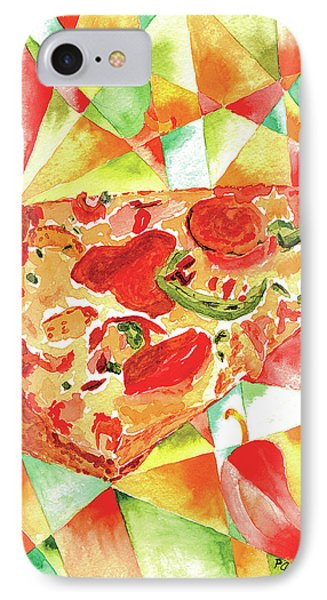 IPhone Case featuring the painting Pizza Pizza by Paula Ayers