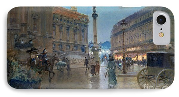 Place De L Opera In Paris Phone Case by Georges Stein