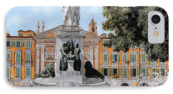 Place Garibaldi In Nice  IPhone Case by Guido Borelli