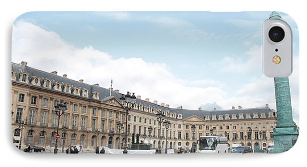 IPhone Case featuring the photograph Place Vendome by Christopher Kirby
