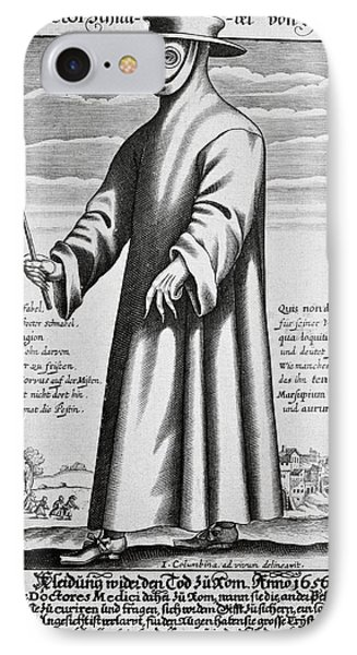 Plague Doctor, 17th Century Artwork Phone Case by