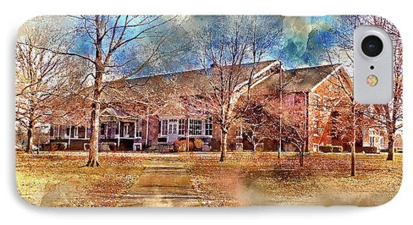 Plainfield Friends Meeting - A Quaker Church IPhone Case by Dave Lee
