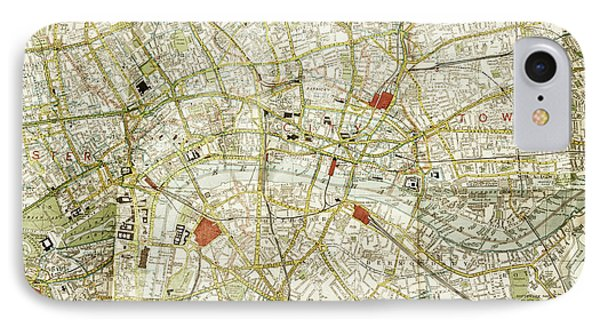 IPhone Case featuring the photograph Plan Of Central London by Patricia Hofmeester