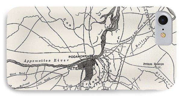 Plan Of Petersburg IPhone Case by American School