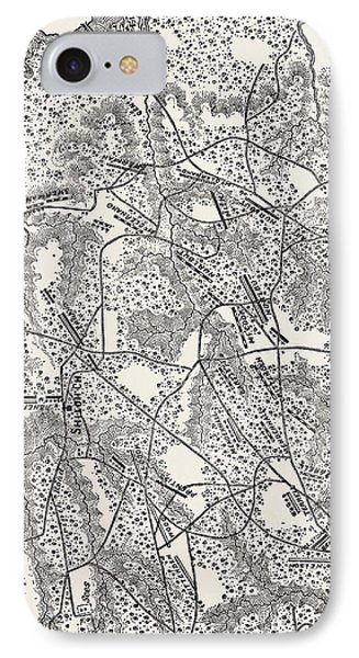 Plan Of The Battle Of Pittsburg Landing IPhone Case by American School