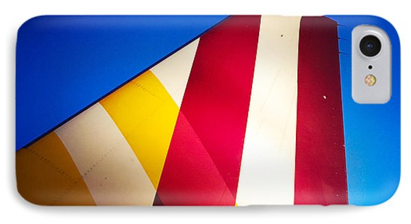Plane Abstract Red Yellow Blue IPhone Case by Matthias Hauser