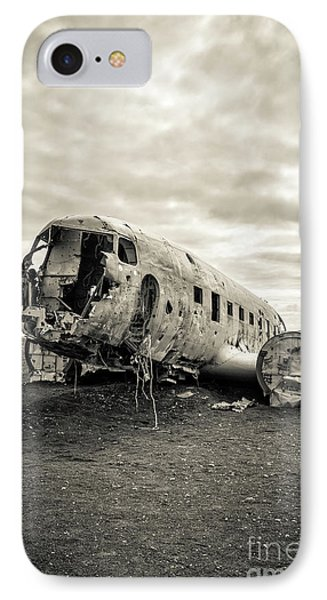 IPhone Case featuring the photograph Plane Crash Iceland by Edward Fielding
