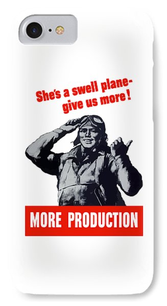 Plane Production Give Us More Phone Case by War Is Hell Store