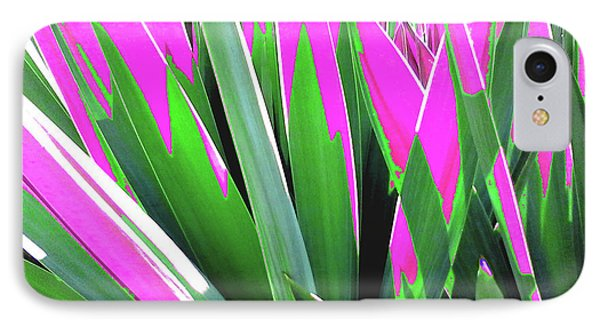 IPhone Case featuring the photograph Plant Burst - Pink by Rebecca Harman