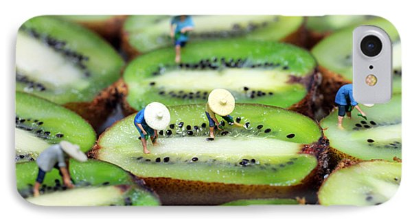 Planting Rice On Kiwifruit IPhone Case by Paul Ge