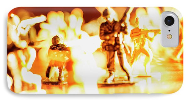 IPhone Case featuring the photograph Plastic Army Men 1 by Micah May