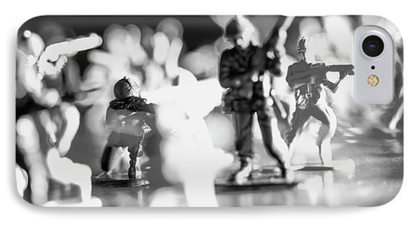 IPhone Case featuring the photograph Plastic Army Men 2 by Micah May