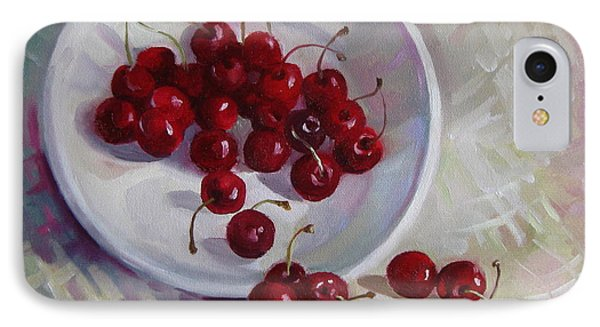 Plate With Cherries IPhone Case