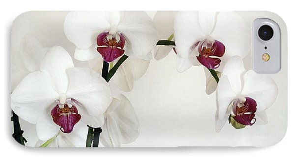 Platnum Beauty Orchids IPhone Case by Marsha Heiken