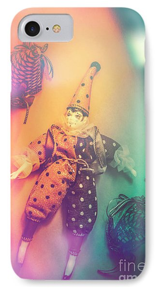 Play Act Of A Puppet Clown Performing A Sad Mime IPhone Case by Jorgo Photography - Wall Art Gallery