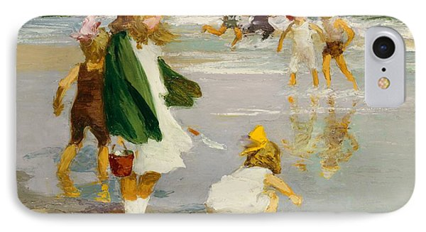 Play In The Surf IPhone Case by Edward Henry Potthast