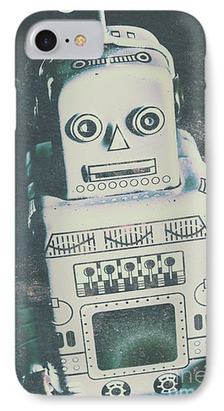 Playback The Antique Robot IPhone Case by Jorgo Photography - Wall Art Gallery