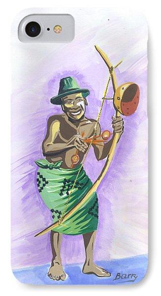 Player Umuduri From Rwanda IPhone Case by Emmanuel Baliyanga