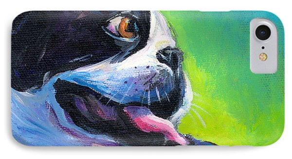Playful Boston Terrier IPhone Case by Svetlana Novikova