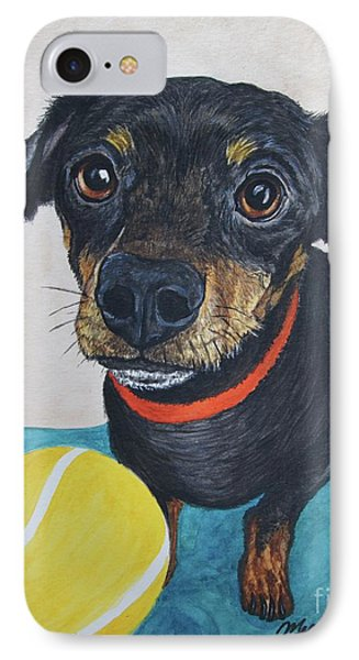 Playful Dachshund IPhone Case