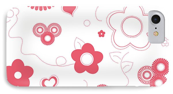 Playful Flower Background IPhone Case by Serena King
