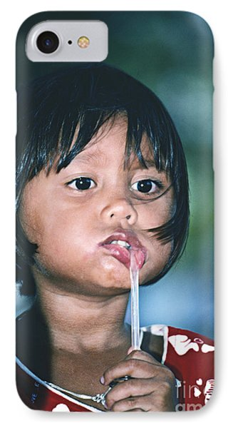 IPhone Case featuring the photograph Playful Little Girl In Thailand by Heiko Koehrer-Wagner