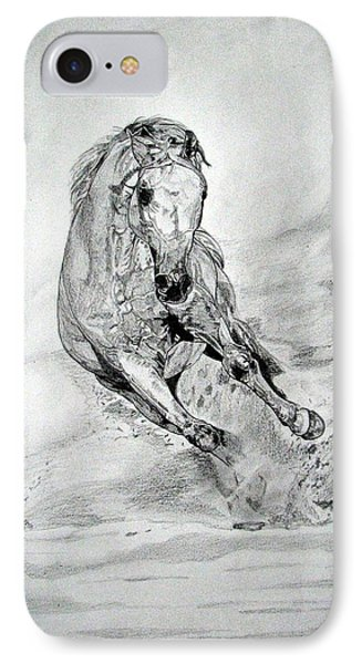 IPhone Case featuring the drawing Playfull by Melita Safran