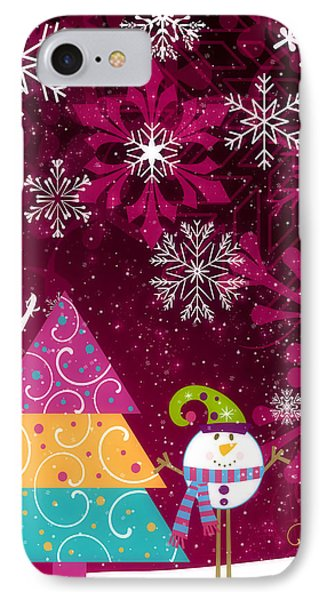 Playful Christmas Brings Joy IPhone Case by Autumn Moon