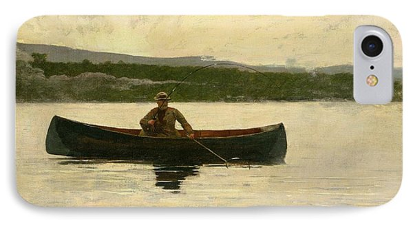 Playing A Fish IPhone Case by Winslow Homer