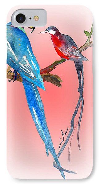Playing Footsie Phone Case by Miki De Goodaboom