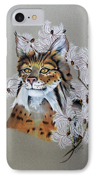 Playing In Milkweed IPhone Case by Virginia Simmons