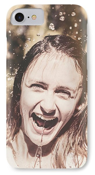 Playing In The Rain IPhone Case by Jorgo Photography - Wall Art Gallery