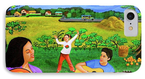 Playing Melodies Under The Shade Of Trees IPhone Case by Lorna Maza