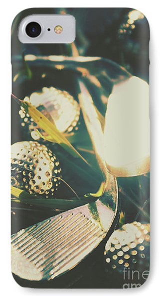 Playing The Golfing Field IPhone Case