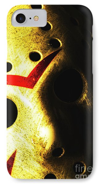 Hockey iPhone 7 Case - Playing The Intimidator by Jorgo Photography - Wall Art Gallery