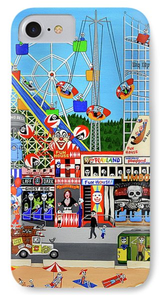 IPhone Case featuring the painting Playland In The Afterlife by Evangelina Portillo