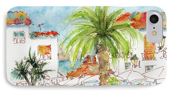 IPhone Case featuring the painting Plaza Altea Alicante Spain by Pat Katz