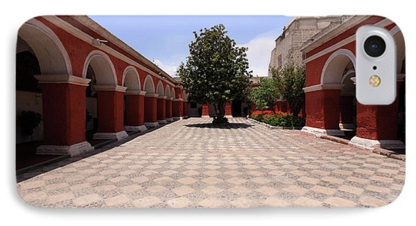 Plaza At Santa Catalina Monastery IPhone Case by Aidan Moran