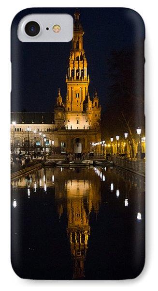Plaza De Espana At Night - Seville 6 IPhone Case by Andrea Mazzocchetti