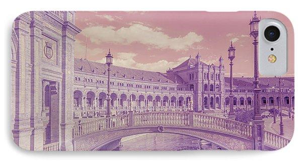 IPhone Case featuring the photograph Plaza De Espana. Dreamy by Jenny Rainbow