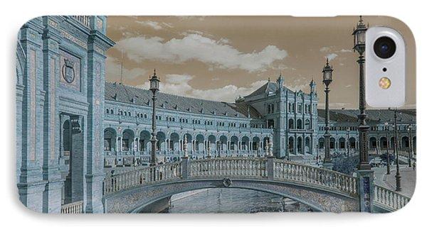 IPhone Case featuring the photograph Plaza De Espana Vintage by Jenny Rainbow