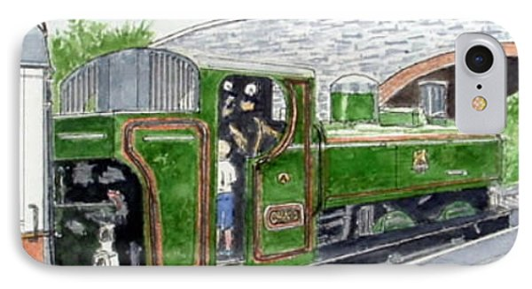 Please May I Drive? - Llangollen Steam Railway, North Wales Phone Case by Peter Farrow