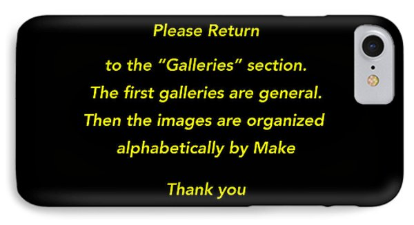 Please Return To Galleries Option IPhone Case
